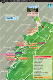 island guide map haad yao koh ma north west koh phangan thailand
