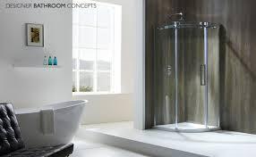 aquaglass designer frameless quadrant shower enclosures afq1door