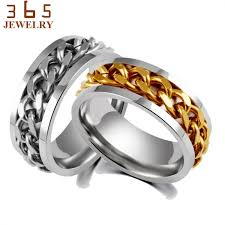 mens spinner rings never fade jewelry stainless steel mens wedding rock biker