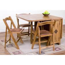 Drop Leaf Table Sets Sedona Rustic Oak Five Dinette Set Drop Leaf Dinette Table