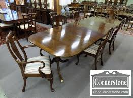 set of 6 councill craftsman solid mahogany queen anne dining