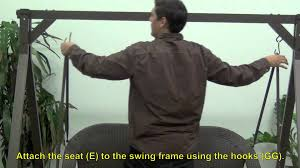 home depot wicker swing youtube