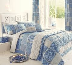 Luxury Super King Size Bed Curtains And Drapes Sky Blue Grommet Curtain Modern Cozy Bedroom