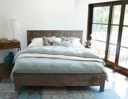 Rustic Modern Bedroom Furniture Reclaimed Wood Modern Platform Bedroom