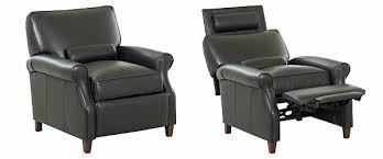 brilliant black leather recliner with fabulous black leather