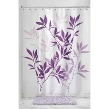 White Curtains With Green Leaves by Shower Curtains Walmart Com