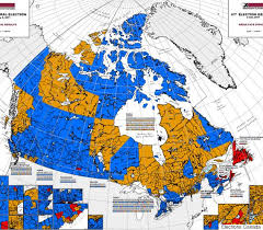 canada election map before and after canadians voted