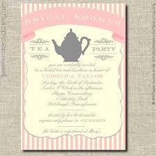 Kitchen Tea Invites Ideas Bridal Shower Tea Party Invitations Cloveranddot Com