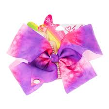 ribbon hair ties jojo siwa pink purple tie dye hair bow s