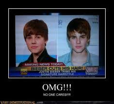 Omg No One Cares Meme - headline news in america justin bieber cuts his hair omg no
