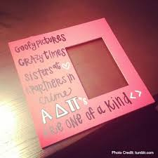 sorority picture frames bid day diy frame college lifestyles