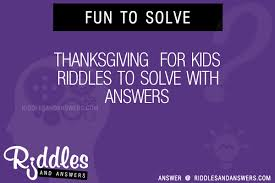 30 thanksgiving for riddles with answers to solve puzzles