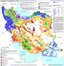 map in language linguistic composition map of iran color coded map of all