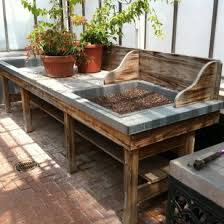 Potting Bench Ikea Recycled Pallet Furniture 25 Unique Ideas Bench Gardens And