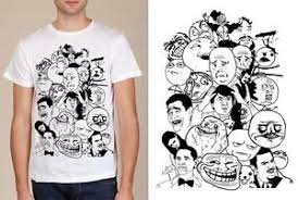 Meme Characters - meme characters collage screen printed fine jersey fitted t shirt