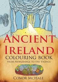 ireland colouring book newgrange vikings