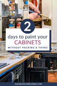 painting kitchen cabinets tutorial how to paint kitchen cabinets the easy way 2 days no