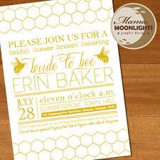 etsy wedding shower invitations to bee whimsical modern bridal shower invitation