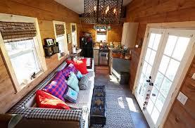 Micro House Interior Design Wood Paneled Tiny House Built On A Gooseneck Trailer