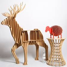 Bookshelf End Table Aliexpress Com Buy 130 150 47cm Wooden Deer Table Teapoy End