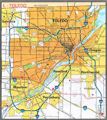 toledo ohio map cities all pictures