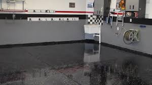 image black garage floor paint how to apply a black garage floor