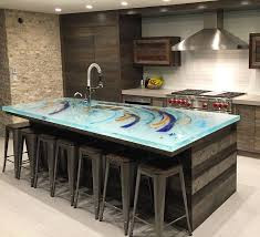 glass kitchen island 49 best unique glass kitchen counter and island tops images on