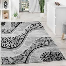 Modern Designer Rugs by Luxury Designer Rug Animal Print Leopard Snake Grey Black