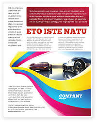 concept cars flyer template background in microsoft word