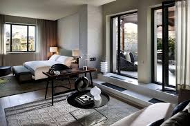 interior style room bedroom design white grey beige bed window