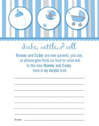 baby shower notes rattle roll blue baby shower notes of advice