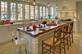 dining room kitchen islands designs with seating and bay window