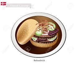 cuisine danoise cuisine danoise illustration de bofsandwich ou hamburger