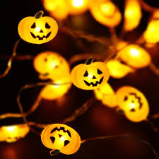 amazon com halloween lights 40 led pumpkin string lights for