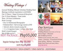 wedding planner packages your complete guide to getting married in the philippines simple
