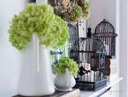 Bird Cage Decor Romantic Fall Mantel Decoration Songbird