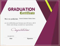 graduation certificate template for ms word download at http
