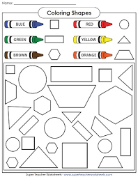 a shape coloring page