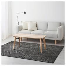 stenlille rug low pile grey 170x240 cm ikea