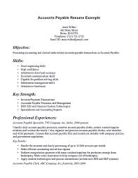 Sample Resume For Financial Analyst by Account Payable Sample Resume Free Resume Example And Writing
