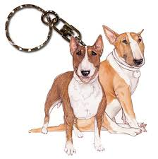 bull terrier gifts merchandise keychains collectibles socks statues