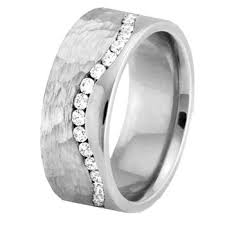 mens hammered wedding bands men s diamond eternity twist wedding ring hammered finish