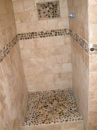 tile ideas for downstairs shower stall for the home image result for river rock bathroom floor bathroom pinterest