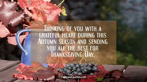 thinking of you with a grateful during this autumn season