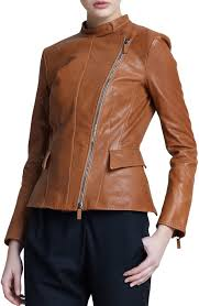 light brown leather jacket womens giorgio armani asymmetric zip leather jacket light brown where to