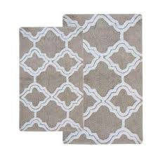 Gray Bathroom Rug Sets Chesapeake Merchandising Bath Rugs U0026 Mats Mats The Home Depot