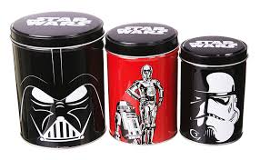 Metal Canisters Kitchen Amazon Com Star Wars Set Of 3 Tin Canisters Home U0026 Kitchen
