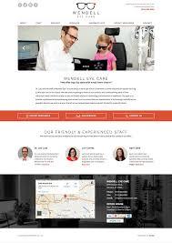optometry website design idea u2022 portfolio u2022 cemah creative llc