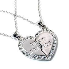 best friends heart necklace images Best friends heart necklaces shopping with adam jpg