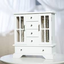 White Jewelry Armoire Mirror Bedroom Wonderful Brown Mirrored Jewelry Armoire Kohls Cabinet